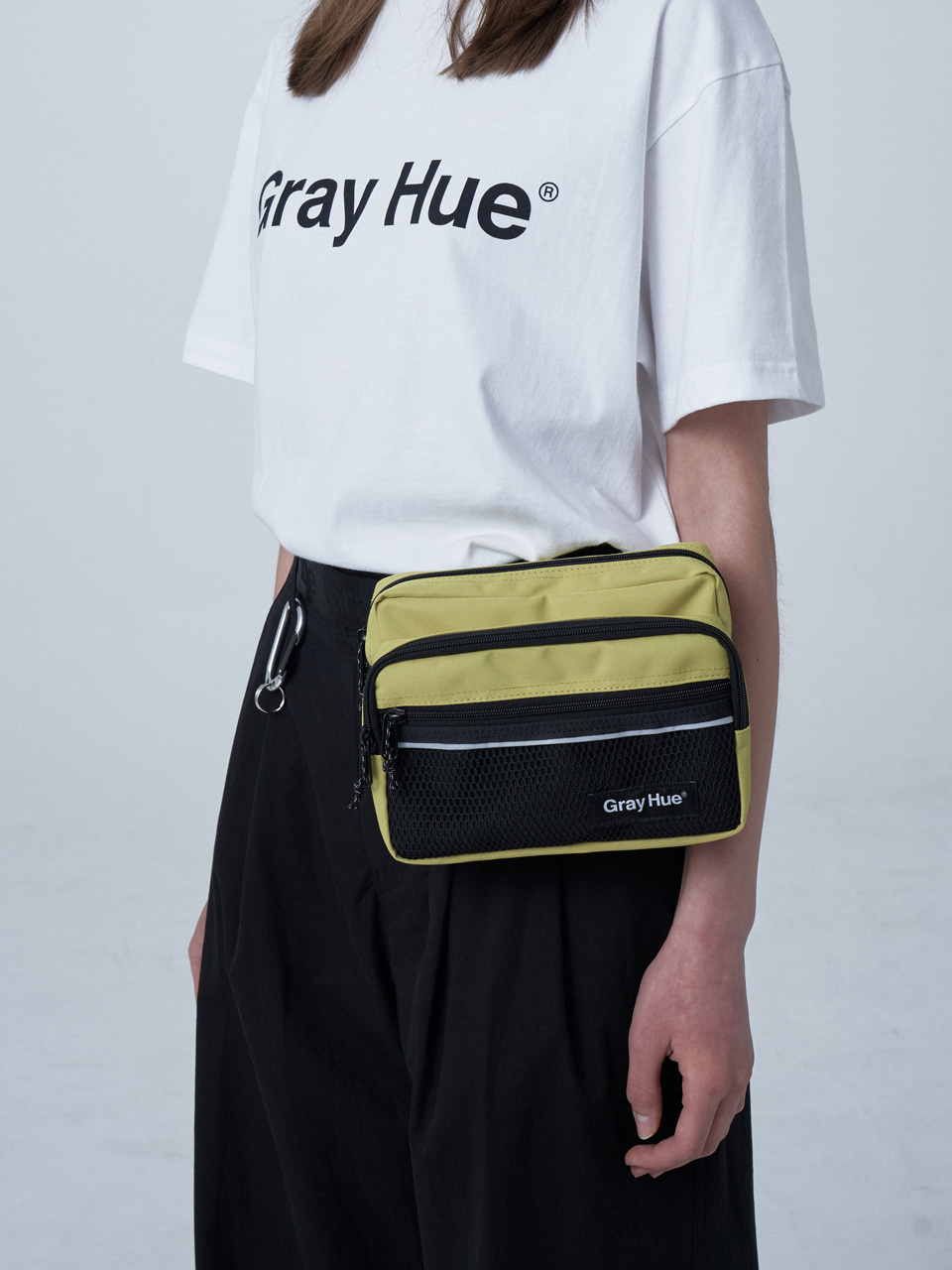 그레이휴RECTANGLE WAIST BAG lime green